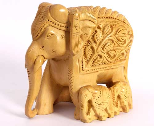 Handcrafted Wooden Elephants
