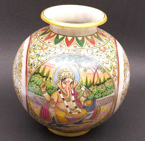 Marble Pot Hand Carved Marble Pot Indian Marble Indian