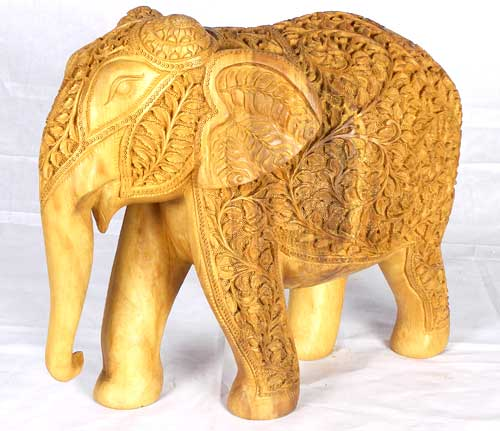 Ornate Wooden Elephant
