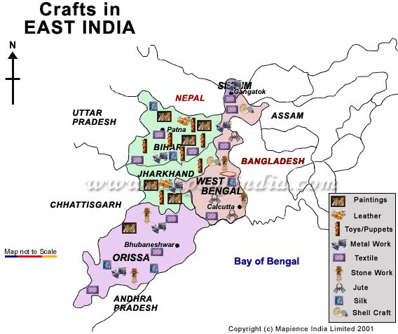 Handicraft India India Handicrafts Maps