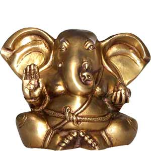 Seated Ganesh (7 inches)