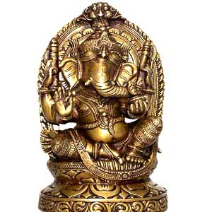 Enthroned Ganesh