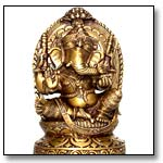 Enthroned Ganesha Statue