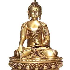 Buddha Bhumisparsha Ashthamangal (14 inches)