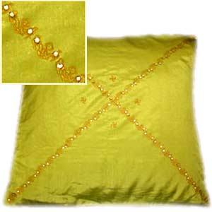 Gorgeous Parrot Green Cushion Cover Set of 5