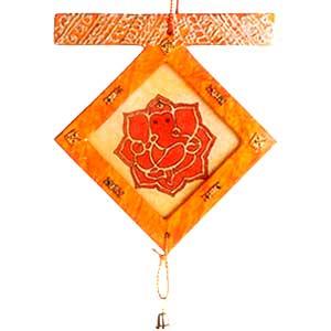 Ganeshji Latkan (Hand made paper in Orange Color)