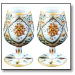 Marble Goblet Pair