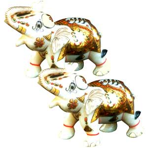 Marble Elephant set (small)