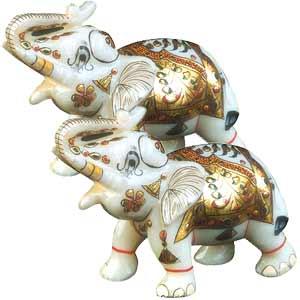 Marble Elephant set (big)