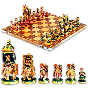 Painted Chess Set