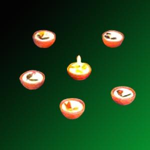 Diya candle gift set