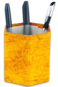 Pen Stand Hexagonal Orange