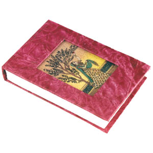 Note Pad with Gem Stone Painting