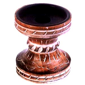 Antique Finish Wooden Candle Holder(Hour-Glass sha)