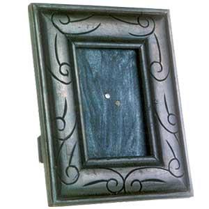 Antique Finish Wooden Photo Frame (Floral Design i)