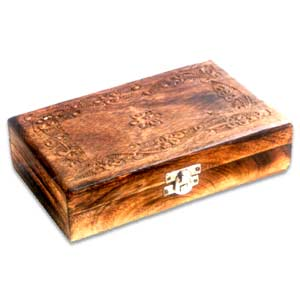Antique Finish Wooden Box (Wooden Plain 8 x 5 inch