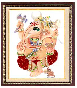 Radha Krishna Glass Painting : RichArt Creation