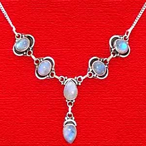 Moon Stone Necklace:Princess Collection