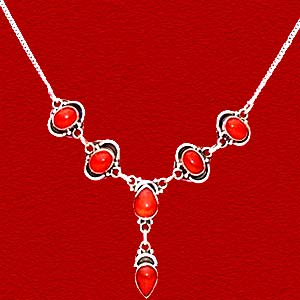 Red Onyx Necklace:The Princess Collection