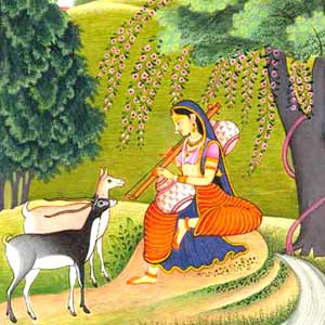Ragni Gujari-Miniature Painting