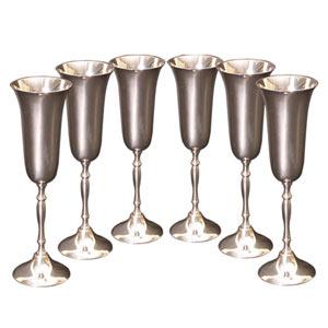 Set of six Wine glasses