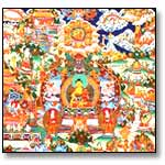 Buddha Life Story – Red Thangka