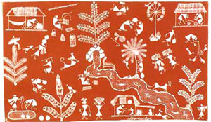 Famous Art Painting, Indian Art Painting, Indian Folk Painting, Warli