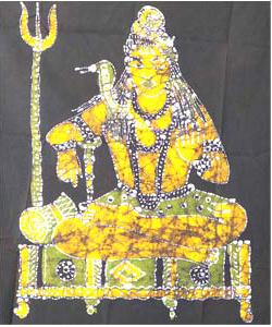 Shiva Batik Painting