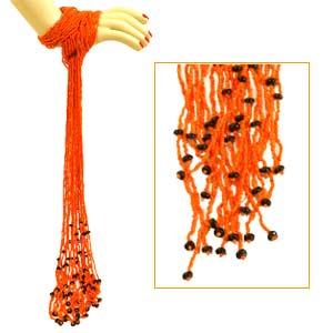 Orange Beaded Accessory