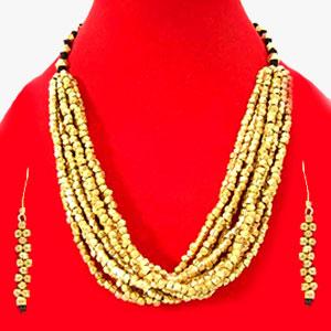 Beaded Dhokra  Jewelry