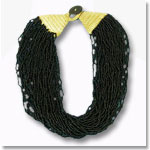 Black Beaded Neckalce