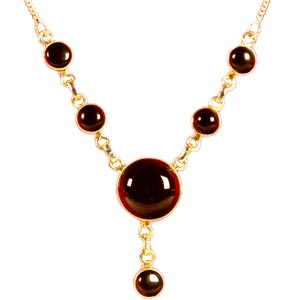 Black Onyx Gem Stone Necklace