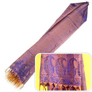 Blue-Violet Silk Stole