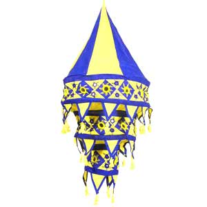 Blue- Yellow Lamp Shade