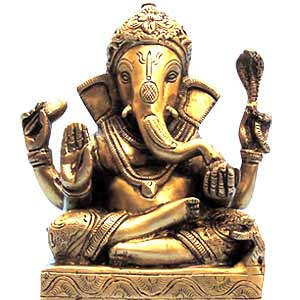 Craft Ideas India on The Image Of The Brass Ganesha Seated On An Ornate Chowki  Small Stool