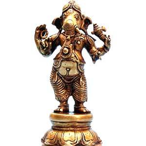 Brass Standing Ganesha