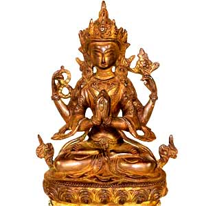 The four-armed avalokiteshvara