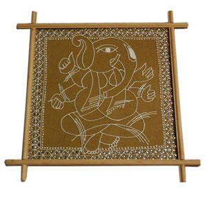Antique Finish Wooden Box (Silver Star 6 x 4 inche)