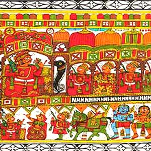 Folk Art Painting, Indian Art on Cloth, Traditional Indian ...