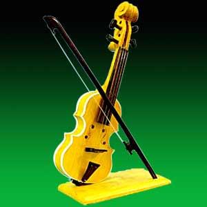 Miniature Wooden Violin