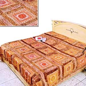 Designer Bedspread: Handwoven Bedspread