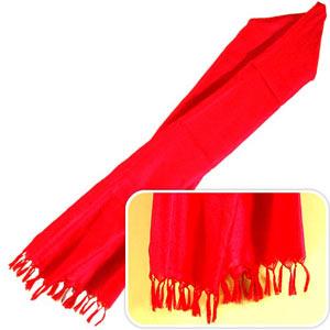 Designer Red Silk Stole