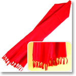 Designer Red Silk Stole
