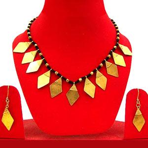 Diamond Cut Dhokra Jewelry