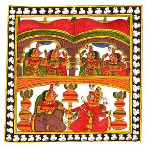 Folk painting on cloth