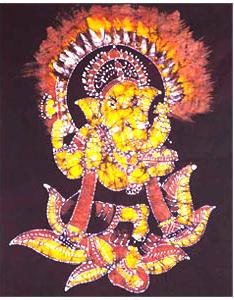 Designer Ganesha Batik Painting