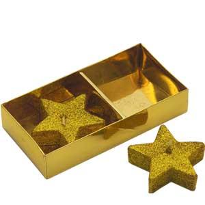 Golden Star Candles