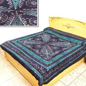 Green Batik Bedspread