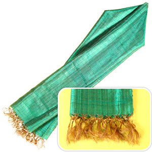 Green Silk Stole