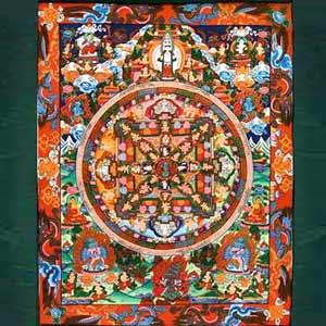 Vajrakaliya Mandala Thangka Painting